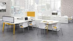 Shop our unique & modern office workstation cubicles for today's workplace including our new Social Distancing Cubicles, workstation desks, sit stand workstations, office partitions & more! Home Office Furniture, Table Furniture, Sit Stand Workstation, Modular Office, Office Workstations, Office Cubicle, Ergonomic Chair, Home Goods, Design