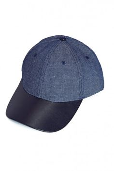Plus Size Denim And Leather Baseball Hat | Fashion To Figure