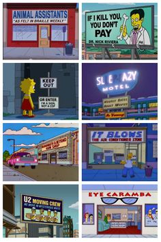 21 Funny Signs From The Simpsons  http://pleated-jeans.com/2012/03/15/21-funny-signs-from-the-simpsons/