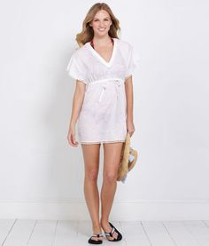 Women's Tunics: Shell Burnout Tunic Top for Women - Vineyard Vines