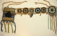 Earthy bohemian utility belt wrap     http://www.etsy.com/listing/114722119/earthy-bohemian-crocheted-hip-wrap    www.facebook.com/horizonsed3e