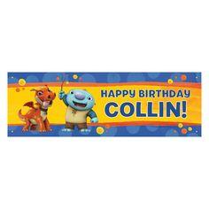 Wallykazam Happy Birthday Banner - Personalized Birthday Banners - Party Shop…