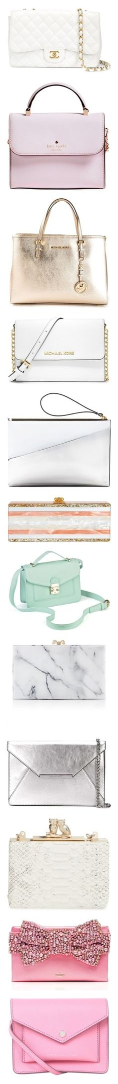 """Handbag Collection"" by littlemisscupcake88 ❤ liked on Polyvore featuring bags, handbags, shoulder bags, white, quilted leather shoulder bag, chanel shoulder bag, vintage leather shoulder bag, leather purse, white purse and purses"