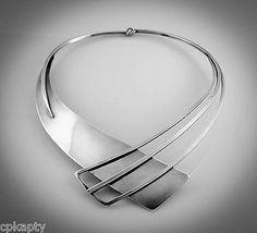 Excelente Vintage Años 40 Paul Lobel Geométricas Modernista Sterling Collar Raro   eBay