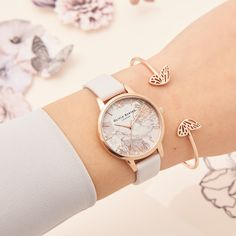 088313208fe9 Abstract Floral Blush  amp  Rose Gold and our Butterfly Wing Bangle  lt 3  Burton