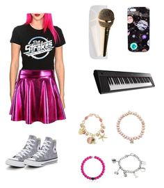 """Character Wardrobe//Singer"" by radioactivenovas on Polyvore featuring Converse, Yamaha, Avenue, Sydney Evan, Marvel and Nikki Strange"