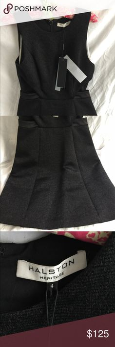 Halston Heritage Shimmer Jacquard Dress NWT. Pretty dress with small cutouts on sides. Still for sale on halstonheritage.com for 189.00 Halston Heritage Dresses