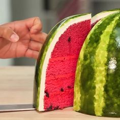 As everything watermelon is on trend right now, I love this watermelon cake by Yolanda Gampp ; when I first saw it i thought it was a real watermelon! Also, she has an amazing YouTube channel so I would definitely go and check it out, the channel name is :HowToCakeIt .