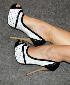 Black and white heels!