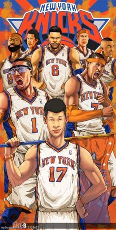 New York Knicks Art lin should not even be in that pic melo should be in front lin is  a little huston boy