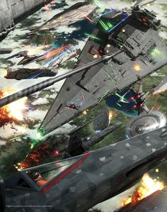 "Breathtaking Art that Puts the ""Wars"" in Star Wars"