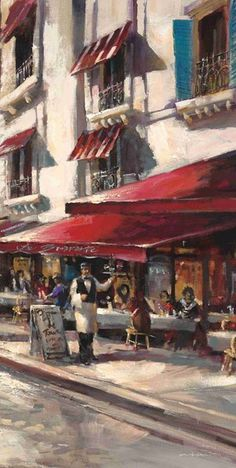 Wildon Home 'Cafe Toulouse' by Brent Heighton Framed Painting Print Painting Frames, Painting Prints, Art Prints, Classic Paintings, Beautiful Paintings, Toulouse, Paris Drawing, Watercolor City, Watercolour