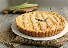 Hungry Couple: Asparagus & Goat Cheese Tart (with Flaky Cream Cheese Pastry)