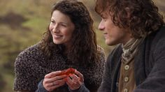 """Sam Heughan and Caitriona Balfe, """"Jamie Fraser"""" and """"Claire Fraser"""" ep 108 Both Sides Now"""