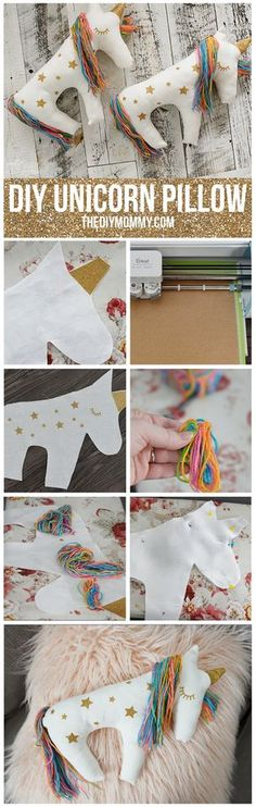 DIY Unicorn Plush Pillow - Free Pattern and Tutorial | Beautiful Cases For Girls