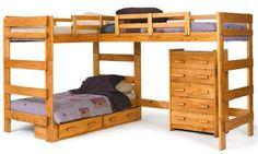 Boone Sleeps 3 Higher L-Shape Loft Bed