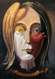 Paintings with optical illusions