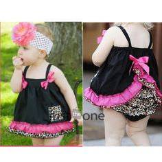 New Girl Baby Ruffle Bloomers Nappy Cover Clothes- ordering these for Bella! Baby Outfits, Little Girl Dresses, Toddler Outfits, Kids Outfits, Ruffle Bloomers, Ruffle Top, Baby Dress Patterns, Baby & Toddler Clothing, My Baby Girl