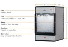 The Opal Nugget Ice Maker Creates Three Pounds of Ice in One Hour #camping trendhunter.com