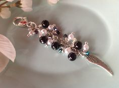 Purse charm beaded keychain charm necklace by DakotaDesignsbyVicki, $18.00