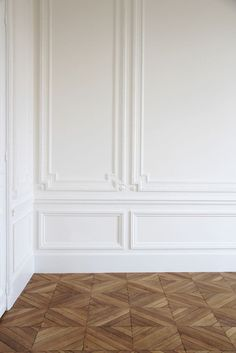 Diamond hardwood flooring pattern! Super unique yet classic at the same time.