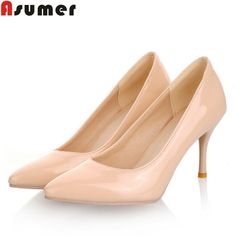 Five colors Plus Size 34 46 2016 New Fashion high heels women pumps thin heel classic white red beige sexy wedding shoes-in Women's Pumps from Shoes on Aliexpress.com | Alibaba Group