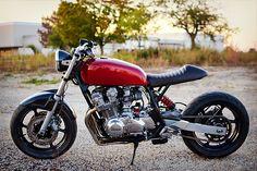 Honda CB750 – Charlie James Customs | Honda Motorcycle | Motorcylces | Honda | classic | custom | chrome | ride | street | Schomp Honda