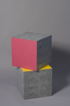 "Ettore Sottsass laminated cubes, ""Bacterio"" pattern"