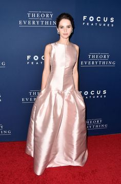 felicity jones says it was daunting to play jane wilde 03 Eddie Redmayne and his co-star Felicity Jones are dressed to impress while hitting the red carpet at the premiere of their latest film The Theory of Everything held… Felicity Jones, Celebrity Dresses, Celebrity Style, Nice Dresses, Dresses For Work, Dior Dress, Weekly Outfits, Celebs, Celebrities