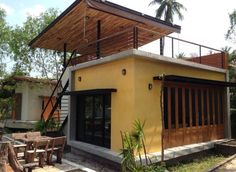 Village House Design, Bungalow House Design, Tiny House Design, Best Small House Designs, Narrow House Designs, Small Cottage House Plans, Cottage Homes, Small Country Homes, Rest House