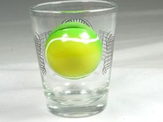3-D ITERNATIONAL HALL OF FAME HOME OF THE LEGENDS OF TENNIS SHOT GLASS 9308