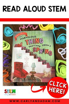 In this STEM Lesson, students learn about the accidental invention of the slinky! Then they build their own simple machine spring. #STEM #readaloud Steam Activities, Activities For Kids, Stem For Kids, Simple Machines, Stem Challenges, Stem Projects, Elementary Teacher, Read Aloud, Student Learning