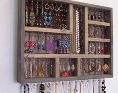 Home and Living Decorative Wood Jewelry Organizer Wall Hanging Home