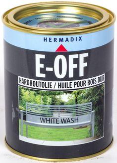 E-Off De nieuwe hardhoutolie van Hermadix welke speciaal is ontwikkeld voor je tuinmeubelen van hardhout.De olie is vanaf nu bij 2shop.nl verkrijgbaar in de drie eigentijdse kleuren: Nature Brown, White Wash en Dark Graphite.Met E-Off kunt u uw oude of