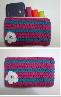 crochet  pencil case  made by me :)