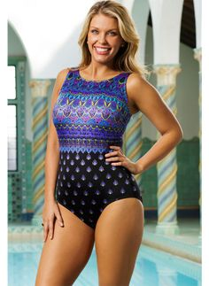 d9c24b74af7f5 Full powernet tummy control lining smoothes and flattens.  spandex  coupons   swimwear Plus