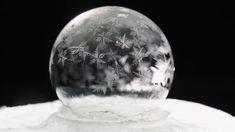 みるみる凍りゆくシャボン玉を高画質で撮った映像が美しい