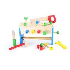 Caja de herramientas y banco de trabajo, 2 en 1 - Jaisa Educativos
