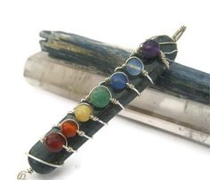 Blue Kyanite Gemstone Chakra Pendant Wire by Abundantearthworks, $42.00