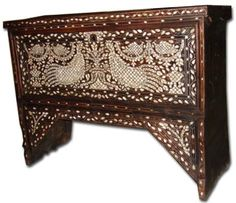 KOREAN FURNITURE | Syrian mother of pearl inlay chest