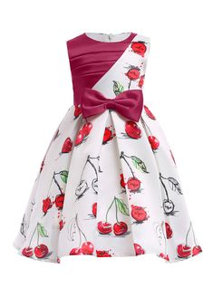 In Stock:Ship in 48 Hours Red White Cherry Print Flower Girl Dress In Stock:Ship in 48 Hours Red White Cherry Print Flower Girl Dress,Childrens clothes In Stock:Ship in 48 Hours Red White Cherry Print. Wedding Dresses For Kids, Gowns For Girls, Girls Formal Dresses, Frocks For Girls, Kids Frocks, Girls Party Dress, Little Girl Dresses, Party Dresses, Work Dresses