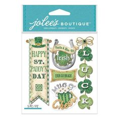 Jolee's Boutique scrapbooking sticker Irish Words and Phrases item 50-21756. $1.45