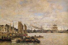 Eugène Boudin, Le Havre, 1869