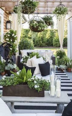 outdoor living black and white space