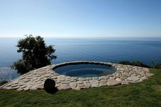 Contemporary and Charming Outside Hot Tub Design of Land's Edge by Mary Ann Schckketanz, Big Sur, California