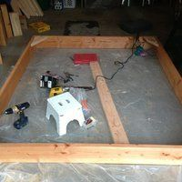 2 X 8 Bed: 5 Steps (with Pictures) Making A Bed Frame, Diy Bed Frame, Diy Platform Bed Plans, Basic Tools, How To Make Bed, Poker Table, Toddler Bed, Toys, Projects