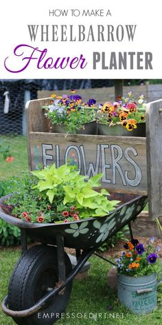 Create A Wooden Flower Planter That Fits On A Wheelbarrow. Great As A Tool  Trug