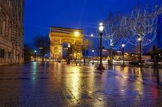 Arc de Triumph on a rainy evening in Paris... - photo from #treyratcliff at http://www.StuckInCustoms.com - all images Creative Commons Noncommercial