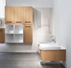 Mobili bagno dai colori naturali e linee pulite per un - Coordinati bagno ...