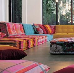 'Mah Jon Couture' modular sofas by Jean Paul Gaultier for Roche Bobois. For my future hippy home